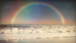 1032 Rainbow Surf and Ocean Stock Video Footage