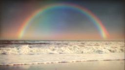 1032 Rainbow Surf and Ocean Stock Video Footage