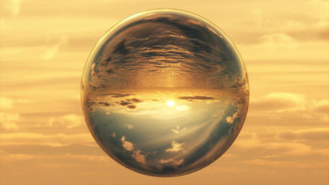1027 Crystal Ball Gazing at the World Stock Video Footage