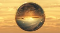 1027 Crystal Ball Gazing At The World stock footage
