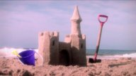 1001 Beach Castle Summer stock footage
