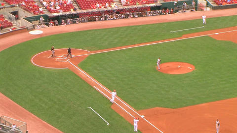 Baseball Stadium Home Run Stock Video Footage