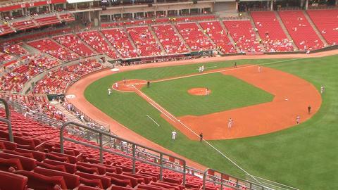 Baseball Stadium Home Run Stock Video Footage