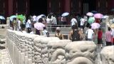 Chinese people visit Forbidden City palace, Beijing Footage