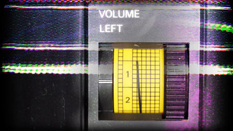 volume left01 Stock Video Footage