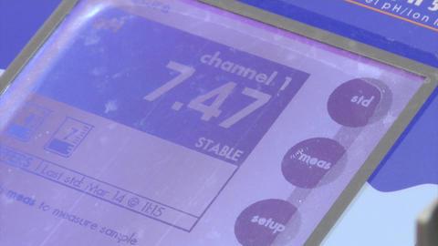 Measuring PH Value using PH Meter Stock Video Footage
