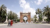 Arc Triompe Barcelona stock footage
