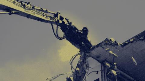 crane munching07 Stock Video Footage