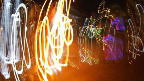 crazy fire lights0 Stock Video Footage