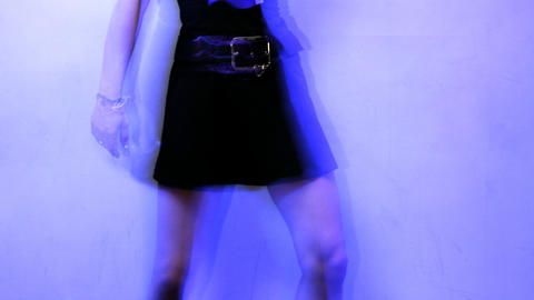 girl dances00 Stock Video Footage