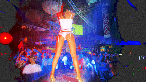 ibiza dancer01 Stock Video Footage