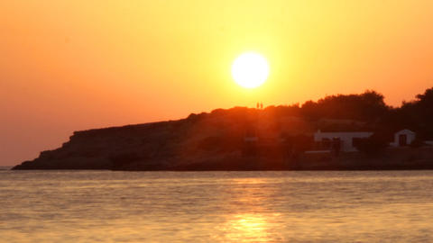 Ibiza Sunset03 stock footage