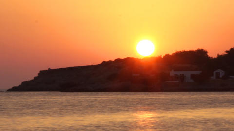ibiza sunset03 Stock Video Footage