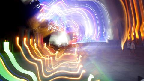 kazantip crazy lights02 Stock Video Footage