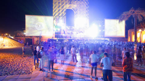 kazantip dancefloor Stock Video Footage