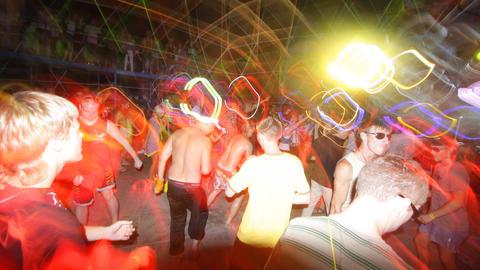 kazantip dancers01 Stock Video Footage