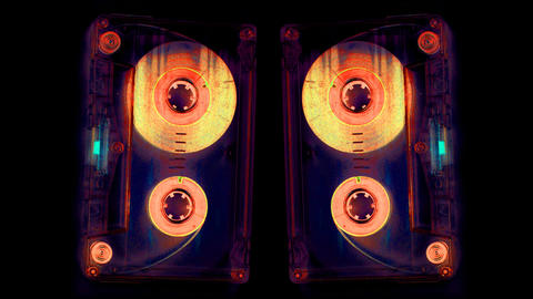 moving cassette03 Stock Video Footage
