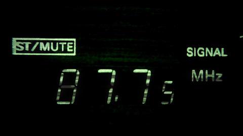 radio tuning0 Stock Video Footage