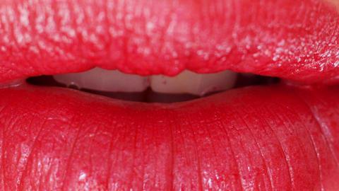 seanna lips4 Stock Video Footage