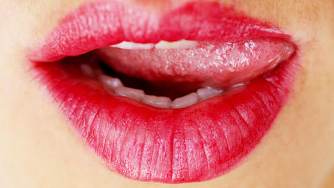 seanna lips6 Stock Video Footage