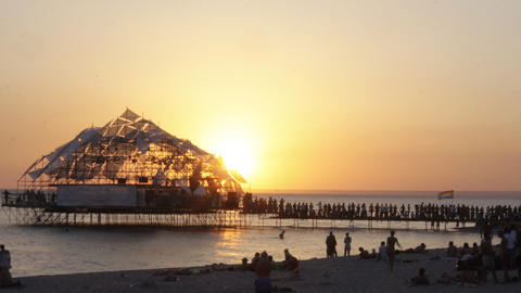 sunset kazantip01 Stock Video Footage
