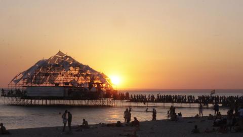 sunset kazantip01 Stock Video Footage