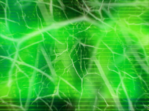 Organic Animation Green : VJ Loop 041 Stock Video Footage