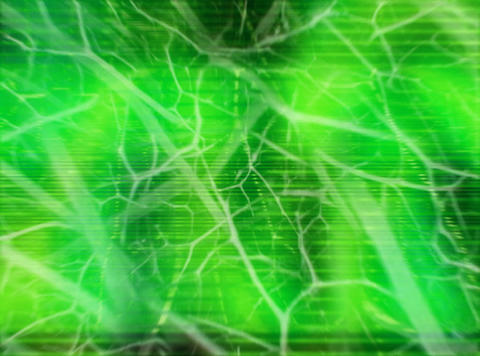 Organic Animation Green : VJ Loop 041 Animation
