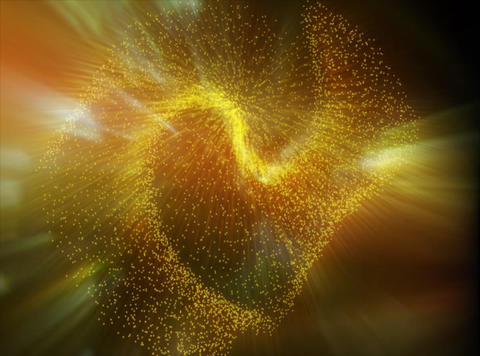 3D Particles Yellow : VJ Loop 142 Animation