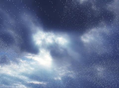 3D Lines& Timelapse Cloudscape : VJ Loop 144 Stock Video Footage