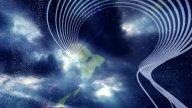 3D Lines& Timelapse Cloudscape : VJ Loop 144 stock footage