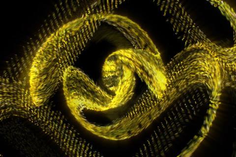 3D Spiral Particle : VJ Loop 335 Stock Video Footage