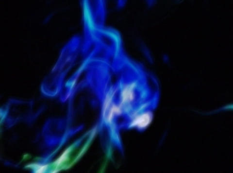 Smoke Blue & Green : VJLoop 372 Stock Video Footage