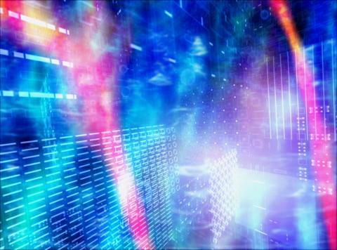 Blue Motion : VJ Loop 012 Stock Video Footage
