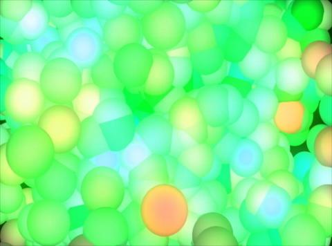 Blue Molecule : VJ Loop 027B Animation