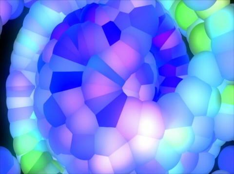 Blue Molecule : VJ Loop 027B Stock Video Footage