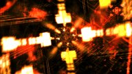 Flying Yellow Geometrics : VJ Loop 034 stock footage
