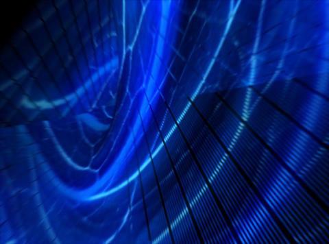 Organic World Blue : VJ Loop Stock Video Footage