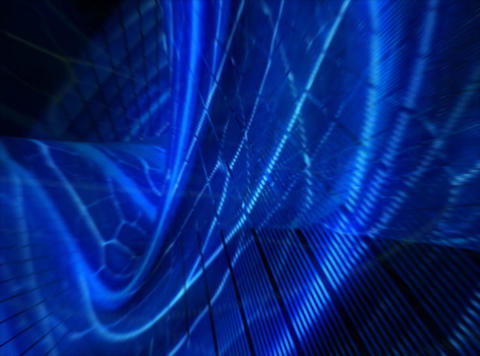 Organic World Blue : VJ Loop stock footage