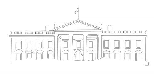 4 K White House 01 handdraw Animation