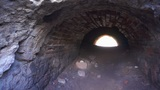 Brick Tunnel With Light At The End stock footage