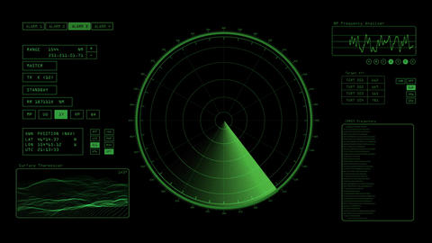 Radar Screen stock footage