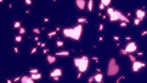 HD Looping Hearts Animated Background Stock Video Footage