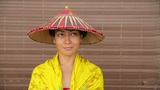 Attractive asian lady with hat Footage