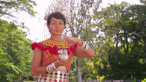 Iban tribal woman Stock Video Footage