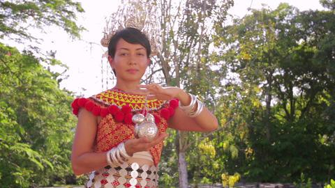 Iban tribal woman Stock Video Footage