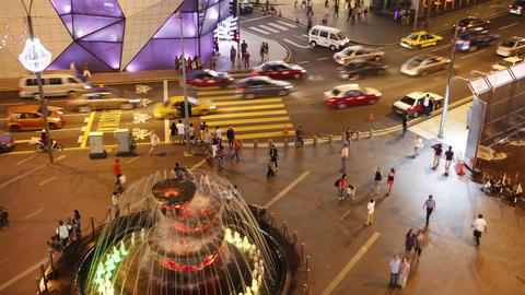 modern city night life Stock Video Footage