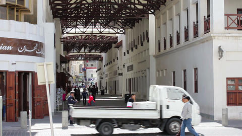 BAHRAIN - MARCH 2012: Arabic street market in bahrain Stock Video Footage