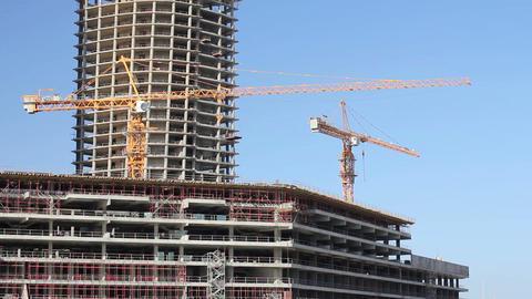 construction of skyscraper building Footage