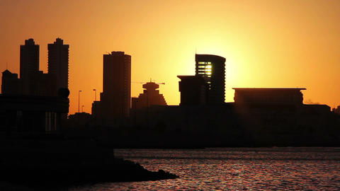 sunset in bahrain Footage